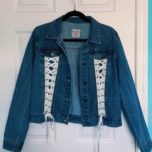 Laced Denim Jacket
